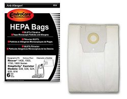 EnviroCare Replacement Vacuum bags for Riccar 1400, 1500, 1700, 1800 Series and Simplicity S38,  ...