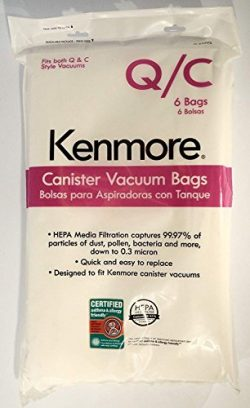Sears Genuine 6-Pack Кеnmоrе Canister Vacuum Bags 53292 Type Q – C HEPA for Canister Vacuu ...