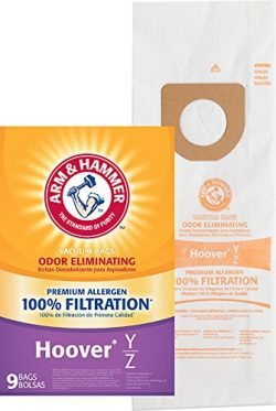 Arm & Hammer (ARMCW) Hoover Type Y&Z Premium Paper Bag-9 Pk