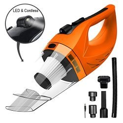 Wireless Car Vacuum Cleaner DC 12V 120W Wet Dry Auto Dustbuster Portable Handheld Auto Vacuum Cl ...