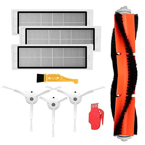 Theresa Hay Accessories for XIAOMI MI Robot Vacuum Side Brush 3pcs HEPA Filter 3pcs Main Brush 1 ...