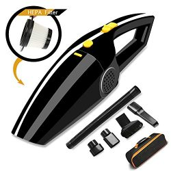 [Upgraded] Car Vacuum, Car Vacuum Cleaner MKROYO DC 12V High Power 120W Wet & Dry Portable H ...