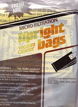 Sears Kenmore Fresh-Aire Micro Filtration Upright Vacuum Cleaner Bags 20-50688, 8-ct. Pack