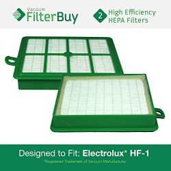 2 – FilterBuy Eureka Electrolux Sanitaire Compatible Washable HF1 (HF-1) HF12 (HF-12) HEPA ...
