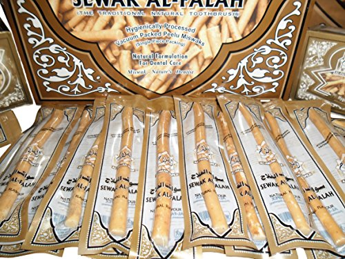 20 Natural Herbal Toothbrush Vacuum Sealed Sewak Siwak Meswak Arak Peelu Miswak