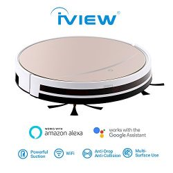 iView WiFi Smart Robot Vacuum Cleaner Works with Alexa, Google Assistant, Cleaning Robot with Sw ...