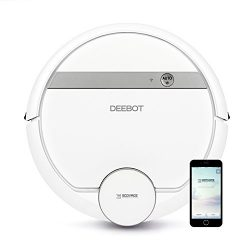 ECOVACS DEEBOT 900/901 Smart Robotic Vacuum for Carpet, Bare Floors, Pet Hair, with Mapping Tech ...
