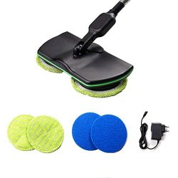 Electronic Wireless Mop,Belufy Electric Sweeper Cordless Rechargeable Handheld Vacuum Spinning M ...