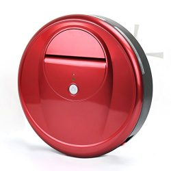 EVERTOP Robot Sweeper, Intelligent Automatic Floor Cleaner with Cliff Detection Sensor, Red