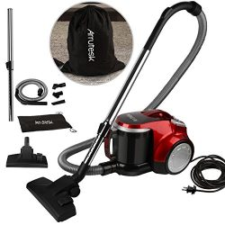 Arrutesk Upright Cyclonic Vacuum Cleaner, Household Multi-Cyclonic Bagless Canister Vacuum, 700W ...