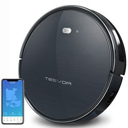 Tesvor Robot Vacuum Cleaner, Wifi Robotic Vacuum with Real Time Map and Plan Cleaning, 1500Pa Ma ...