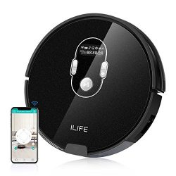 ILIFE A7 Robotic Vacuum Cleaner with 600ML Big Dustbin, LCD Display, Multi-Task Schedule Functio ...