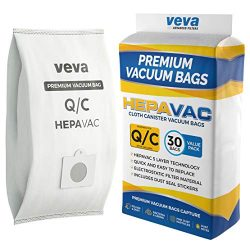 VEVA 30 Pack Premium HEPA Vacuum Bags Type Q Cloth Bag Compatible with Kenmore Sears Canister Va ...