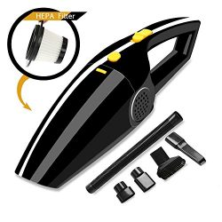 Suzm Car Vacuum DC 12V 120W 4000Pa Powerful Suction Wet Dry Portable Handheld Auto Vacuum Cleane ...