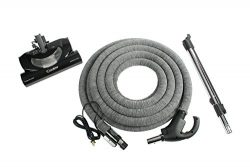 Cen-Tec Systems Central Vacuum 35′ Hose Kit with CT20QD