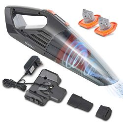 VonHaus 14.8V Cordless Handheld Wet & Dry Vacuum Cleaner – Powerful 6Kpa Cyclonic Suction wi ...